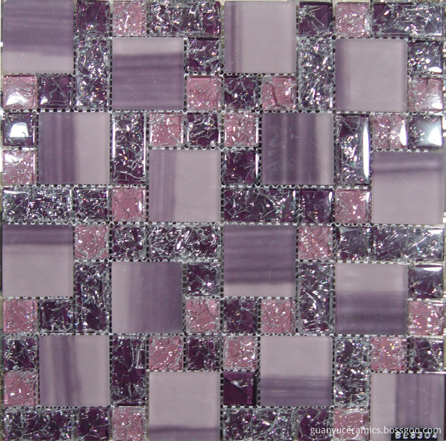 Cracked Crystal Glass Mosaic