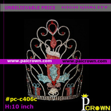 Red candle candlelight christmas pageant tiara crown