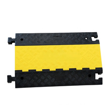 2 Channels Rubber Cover Ramp Wire Cable Protector Speed Bump