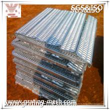 Antideslizante / a cuadros / acero inoxidable / placa para la construcción