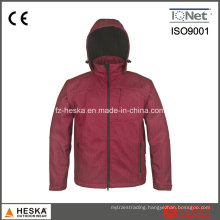 100% Ployester Hood Hiking Softshell Women Jacket