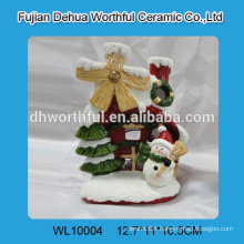 Morden style ceramic christmas ornamentswith ceramic snowman figurine