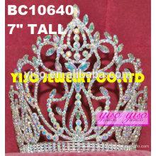 Prinzessin ab Rhinestone-Tiara Kopf tragen Diamant Hochzeit Tiara