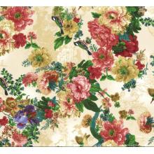 Polyester Digital bedrucktes Gewebe für Kleid, Tops, Rock