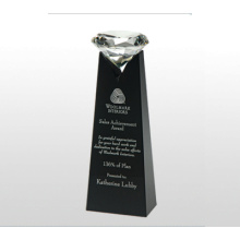 Noble VIP Best Gifts Black Crystal Tower Diamond Trophy