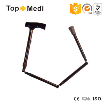 Topmedi Rehabilitation Therapy Supplies Foldable Height-Adjustable Aluminum Canes