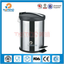 high quality small indoor stainless steel litter bin