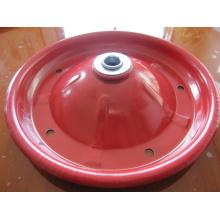 3.00-8 Borda de roda de roda de borracha Red Steel para carrinho de mão