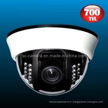 700tvl caméra CCD CC CCTV de dôme de sécurité en plastique