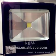 Wasserdichter leistungsfähiger Solar konkurrenzfähiger Preis ip65 50 Watt geführtes Flutlicht