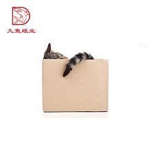 Taille adaptée aux besoins du client carré multifonctionnel plié le modèle de boîte de papier de pliage