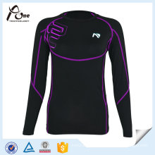 Long Sleeve Blank Compression Shirt Spandex Sports Shirts