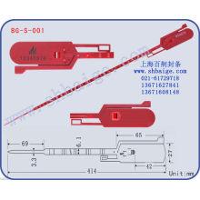 selos de segurança em plástico numerados BG-S-001