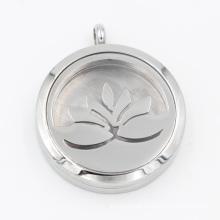 Fábrica original de óleo de lótus difusor medalhão pingente para moda colar de jóias