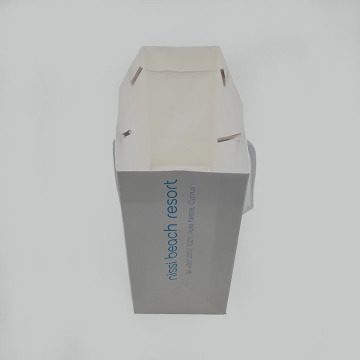 Aangepaste Fancy Retail Carry White Card papieren zak