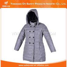 high visibility warm jacket with reflective fabric