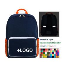 Custom Logo Environmental Friendly Kindergarten School Backpack Polyester Cheap Promotion Boy Girl Child Kids School Bag
