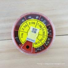 Boîte de plomb de poids différent de plomb de plomb