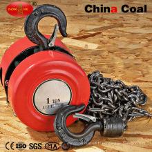 Grue diesel de grue de moteur électrique de chaîne de 1 tonne
