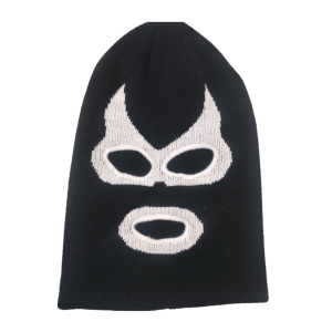 Wholesale spandex/cotton knitted mask beanie hat