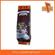 Alumínio plástico forro sacos de papel kraft café com válvula