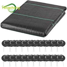 Weed mat U pins galvanised steel staples