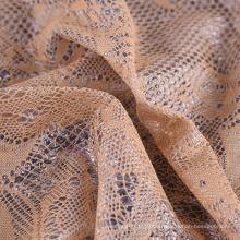 Günstiges 100% Polyester wasserdicht gestricktes gebundenes PU-beschichtetes Spitzengewebe für Kleidungsstücke