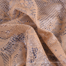 Cheap 100% polyester waterproof knitted bonded pu coated lace fabric for garments