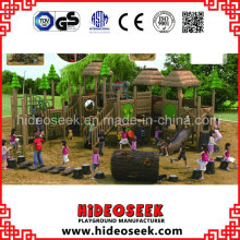 ASTM Standard Wood Color Plastic Playground Outdoor with Slide
