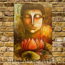 Lona de arte de Buda de alta calidad para la decoración de la pared