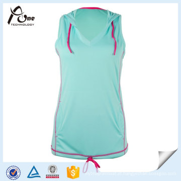 Moda fitness sports clothing popular hoodies mulheres colete