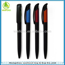 Горячие Продажа продвижение черные пластиковые ручки с Подгонянные логос