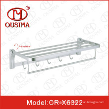 Wall Mounted Stainless Steel Bathroom Towel Bar Towel Shelf with Hook