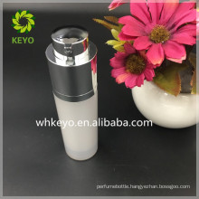2017 hot sale 30ml airless pump bottle acrylic plastic refillable cosmetic airless bottle with pump cover