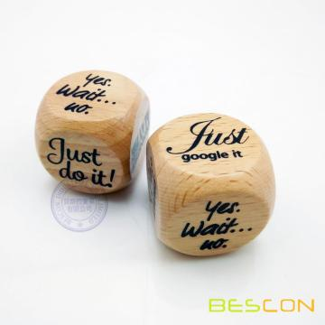 Custom Printing Beech Wooden Dice 30MM in Round Style
