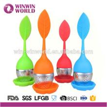 Förderung-kundenspezifischer farbiger Edelstahl-Silikon-Tee-Ei