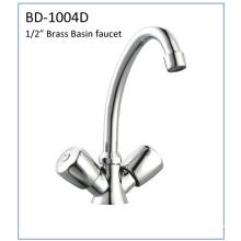 Bd1004D Double Handles Brass Basin Faucet