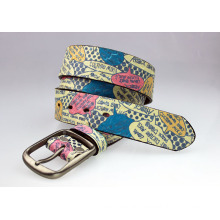 Stock cheap men belt leather belts printing