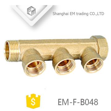 "ЭМ-Ф-B048 резьба 3/4"" латунный коллектор трубы"