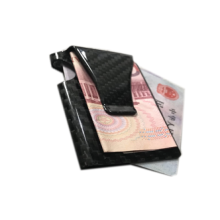 Multifunctional Black Carbon Fiber Wallet Money Clip