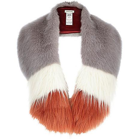 Fake fur neckwarmer