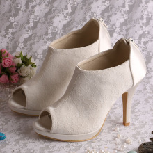 High Heel Summer Lace Boots for Wedding