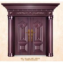 Imitez les doubles portes en acier de laiton