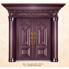ISO9001standard Luxury exterior hollow steel double doors