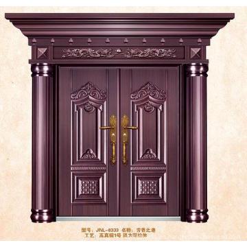ISO9001standard Puertas dobles de acero huecas exteriores de lujo