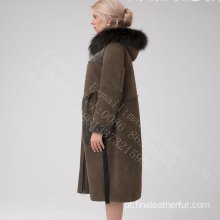 Austrália Merino Shearling Long Coat No Inverno
