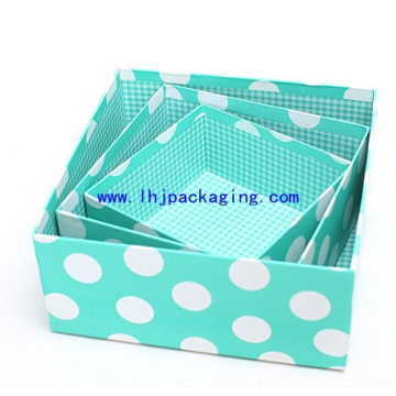 High End Cardboard Packaging Gift Paper Box with Special DOT