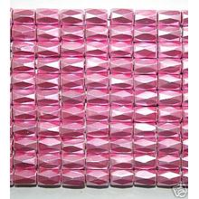 Pink Hematite 18 Faded Tube Beads 5X8MM grado AB
