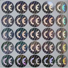 tarjeta de identificación de votante con etiqueta engomada del holograma