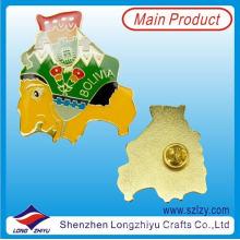Изысканный Боливия Национальный сувенир металлический значок с эпоксидной смолой